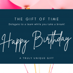 Happy Birthday Gift Card (pink) | Supportal Supportal