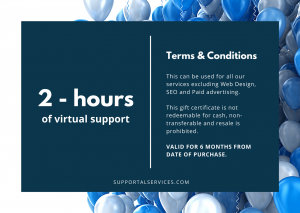 Happy Birthday Blue Gift Card Supportal