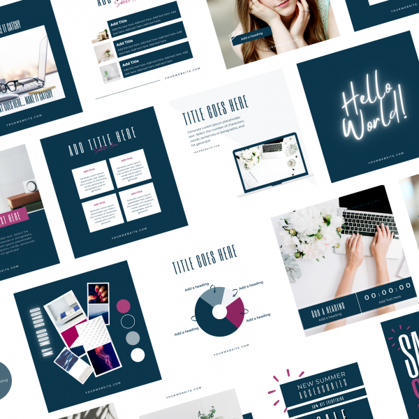 Clean & Simple Instagram Post Templates Supportal